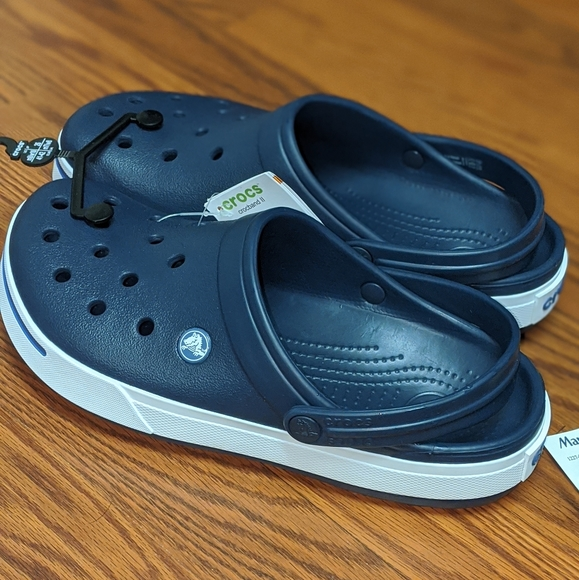 CROCS Shoes | Navy Blue And White Crocs
